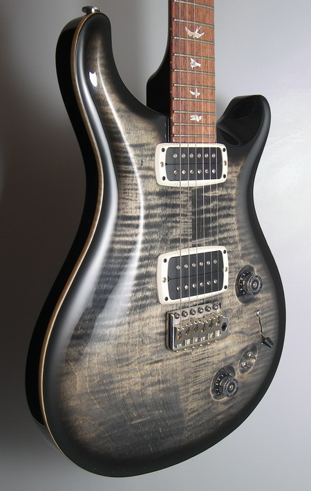 SOLD PRS 408 MAPLE TOP CHARCOAL FROST PATTERN THIN NECK