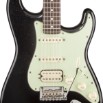 SOLD FENDER AMERICAN DELUXE STRATOCASTER PLUS HSS BLACK RW