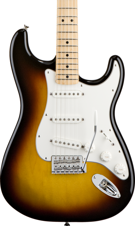 SOLD FENDER STANDARD STRATOCASTER SSS SUNBURST MAPLE