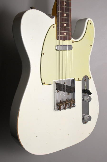 SOLD C.SHOP 2014 RELIC MOD 1963 TELECASTER OLYMPIC WHITE