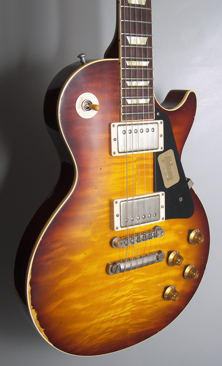 SOLD Gibson 1958 Heavy Aged Les Paul h.picked Slow Ice Tea LTD