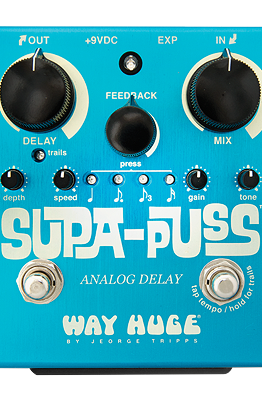 WAY HUGE SUPA PUSS DELAY WITH TAP TEMPO