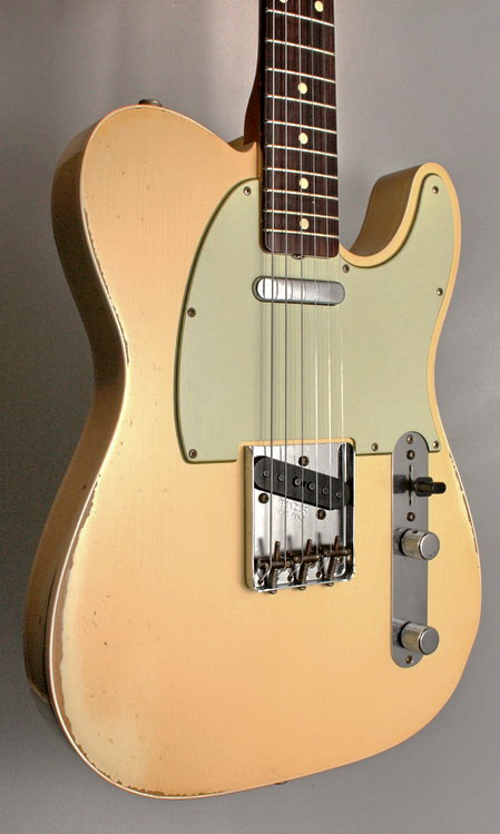 SOLD C.SHOP 60 CUSTOM RELIC TELECASTER MATCHING HEADSTOCK