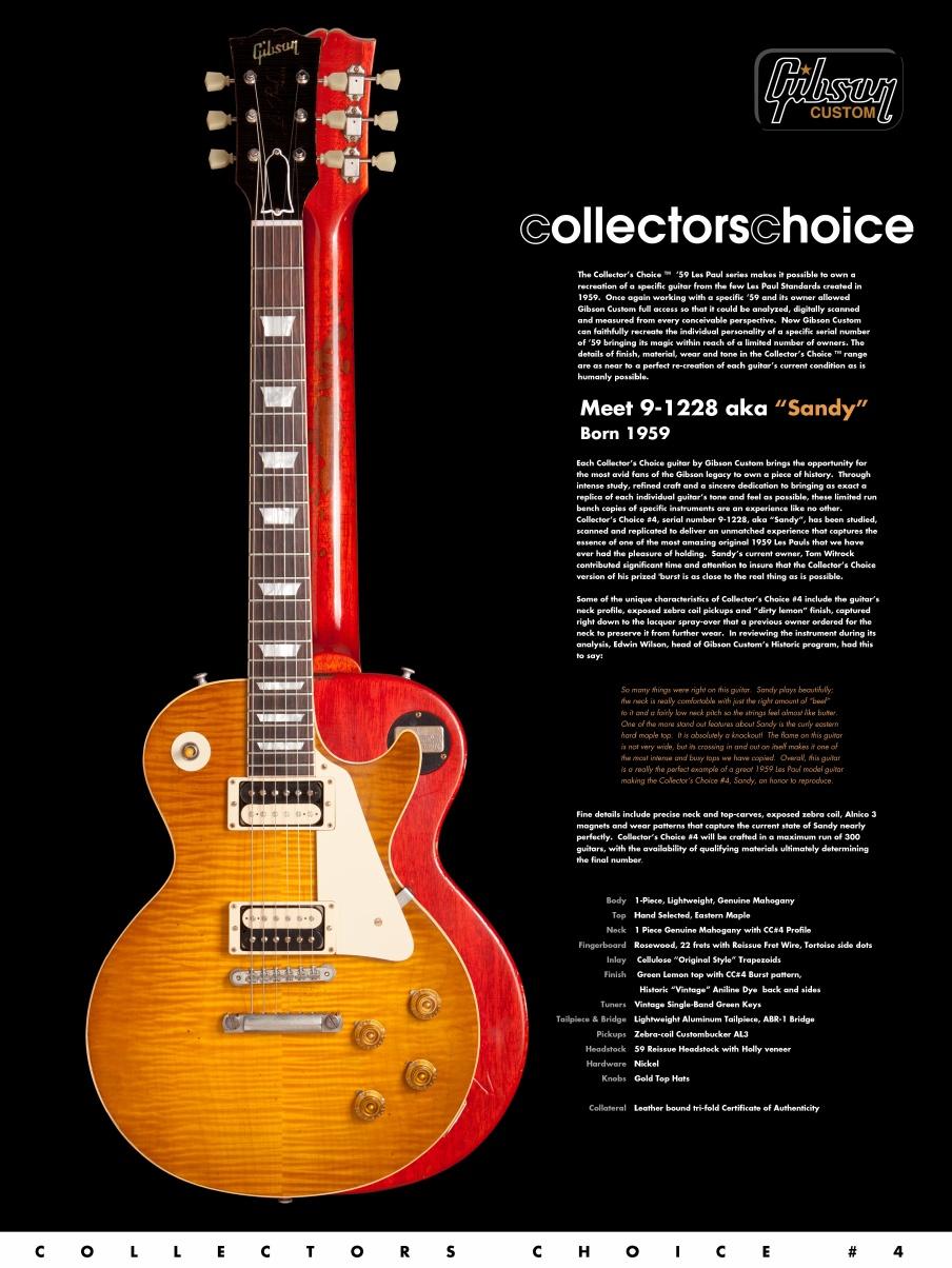 Sold Gibson Collectors Choice 4 Sandy 247 Gbl Guitars More Guitar Wiring 101 300guitarscom 1959 Les Paul