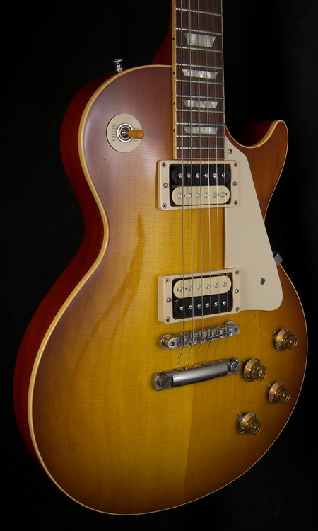 SOLD GIBSON 2012 1958 HISTORIC REISSUE AGED FLAMETONE 59 PICKUPS