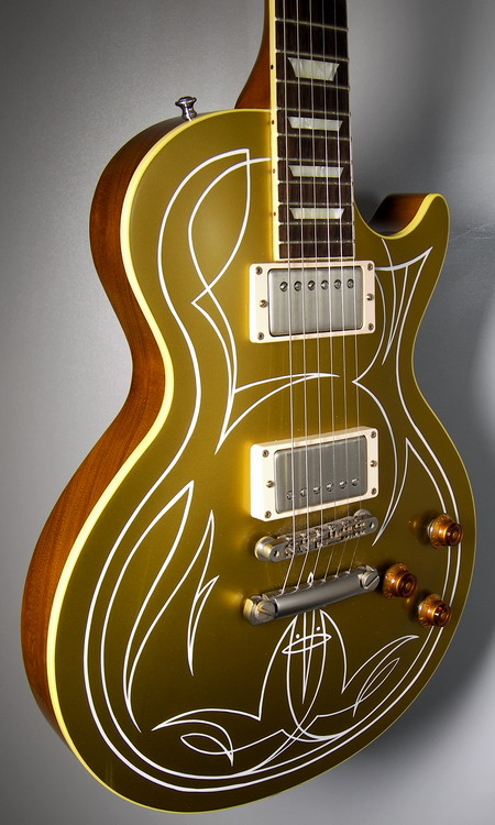 SOLD BILLY GIBBONS PINSTRIPE GOLDTOP VOS