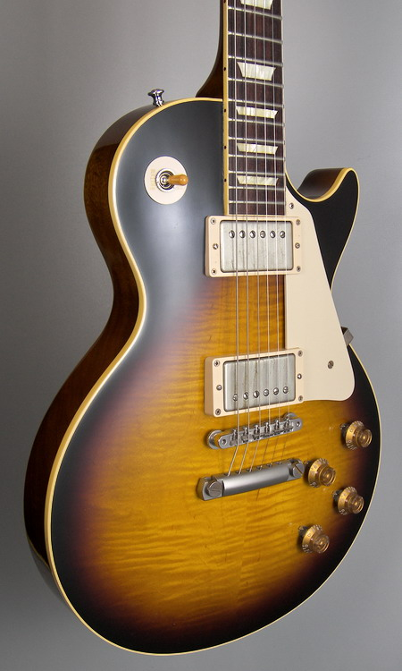 SOLD GIBSON LES PAUL 1958 HISTORIC FLAMED 2013