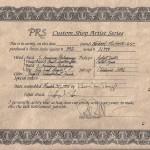 PRS-ARTIST-332PC-COA