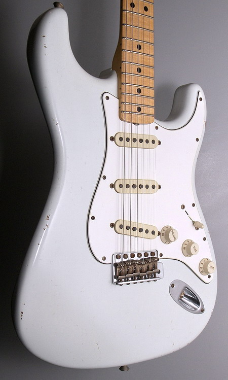 SOLD C.SHOP 2014 1969 RELIC STRAT REVERSE HEADSTOCK LIMITED EDITION