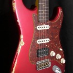 SOLD C.SHOP 2016 63 HSS HEAVY RELIC STRAT CANDY APPLE RED