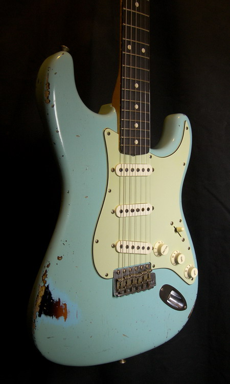 SOLD C.SHOP 2015 60  HEAVY RELIC STRATOCASTER TODD KRAUSE MASTERBUILT
