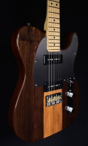 FENDER 2017 LIMITED EDITION MALAYSIAN BLACKWOOD TELECASTER P 90