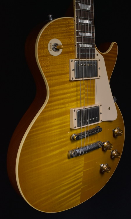 SOLD GIBSON LES PAUL HISTORIC 1959 2014 REISSUE HAND PICKED DIRTY LEMON