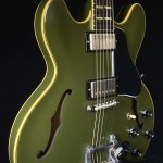 SOLD GIBSON 1964 ES 345 MONO OLIVE DRAB GREEN MONO VOS