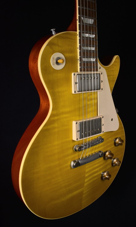 SOLD GIBSON 2013 1958 L.PAUL REISSUE FLAMED LEMON