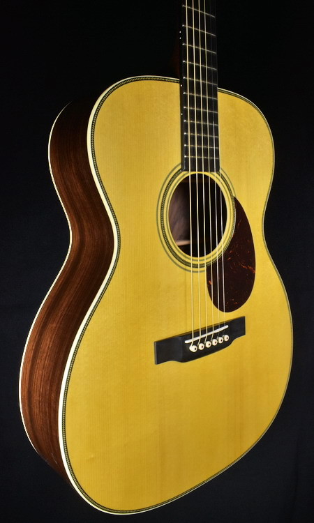 MARTIN CUSTOM SHOP OM 28 WILD GRAIN INDIAN RW/ADIRONDACK