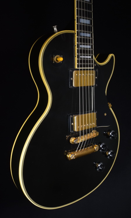 SOLD GIBSON 1991 LES PAUL CUSTOM BLACK BEAUTY