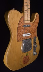 """C.SHOP """"ROPE & ROSE"""" TELECASTER ONE OFF NAMM 2003 BY CHRIS FLEMING"""