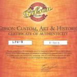 GIBSON-LP59-2005-PT-COA