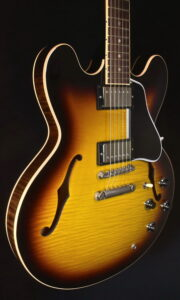 GIBSON MEMPHIS CUSTOM ES 335 DOT REISSUE FIGURED 2009