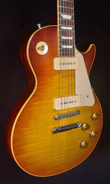 GIBSON 2017 HISTORIC LES PAUL 56 REISSUE GLOSS FLAME TOP