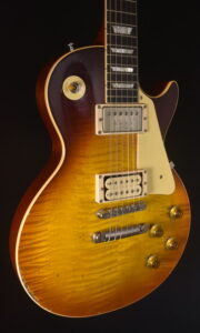 GIBSON PSL LTD 58 L.PAUL REISSUE PALE WHISKEY BURST WITH DOYLE TRUE CLONES PAF & ELECTRONICS